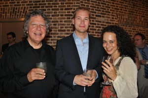 Bruce Neeley, Tyler Duncan and Sara Erde of Flora, An Opera